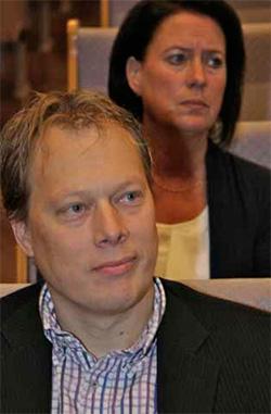 Abbe Ronsten (S) var den enda politikern i direktionen som kom till hearingen.