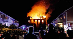 Våldsam brand på Textes HVB