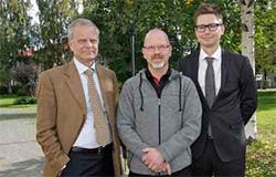 Rolf Karlsson och Fredrik Jorstadius, från advokatbyrån Delphi, företräder Umeå kommun.