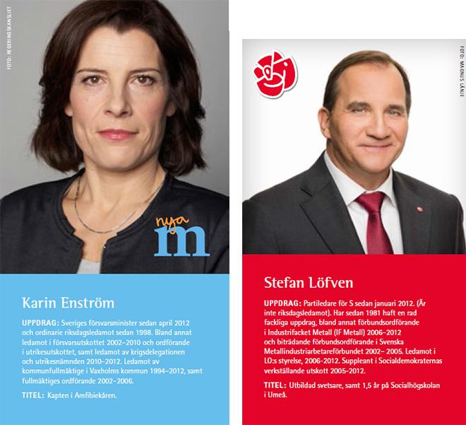 Karin Enström och Stefan Löfven