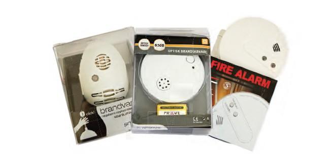 Tre förbjudna brandvarnare