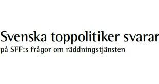 Svenska toppolitiker svarar på frågor om räddningstjänst