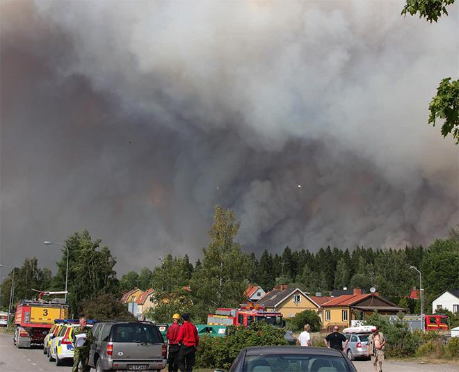De boende i Gammelby evakueras.