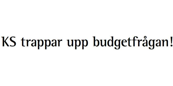 KS trappar upp budgetfrågan!